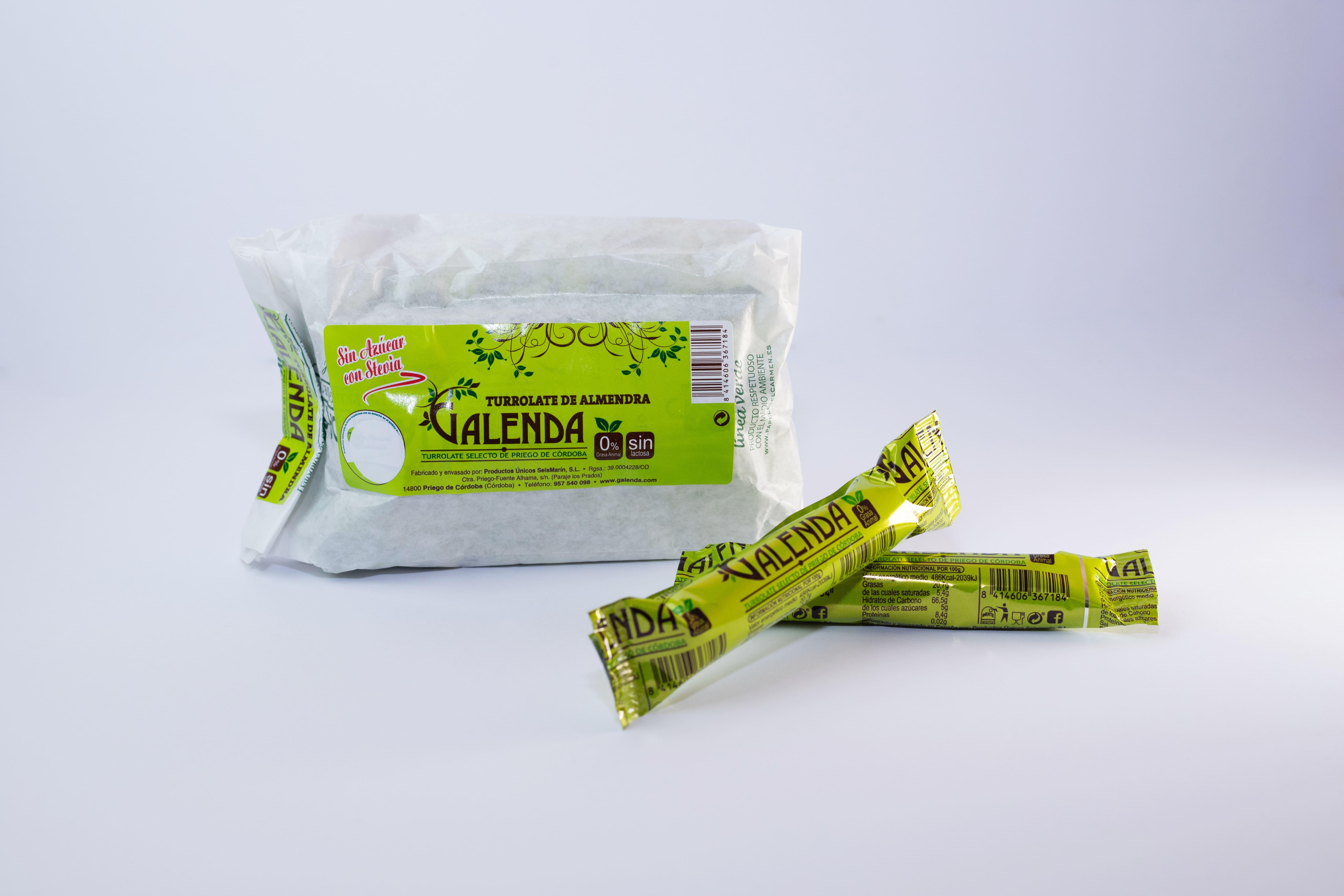 Turrolate sin azúcar Galenda